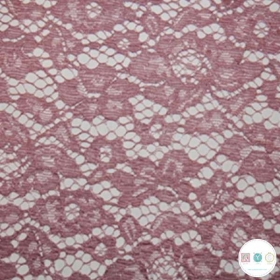 Old Rose Pink Corded Lace - Bridal Dress Fabric - Decorative - Dressmaking