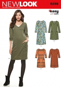 New Look 6298 - Easy Knit Tunic Dress