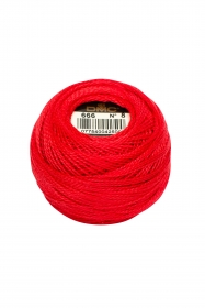 Red Perle 8 Embroidery Thread DMC8-666