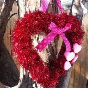 Double Heart Frame - Copper Metal - Florist Crafting Frame - Wire Wreath