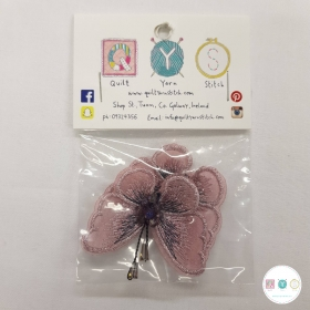 Butterfly Motifs - Pink - 2 Pack - Appliqué - Costume Embellishments - Haberdashery