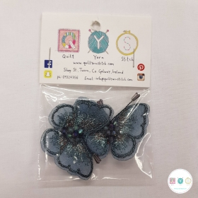 Butterfly Motifs - Blue - 2 Pack - Appliqué - Costume Embellishments - Haberdashery