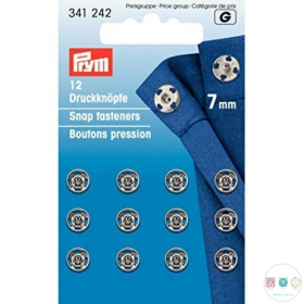 Prym Sew-On Snap Fasteners, 7mm, Pack of 12 Sets