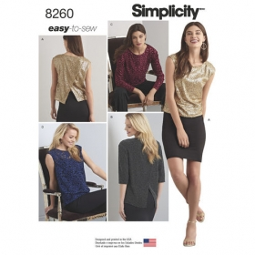 Simplicity 8260 a - Back Detail Top