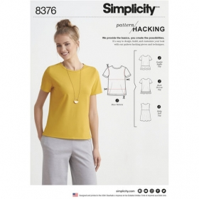 Simplicity 8376 a - Pattern Hacking Top