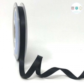 Black Double-Faced - 8mm Satin Ribbon - Trim - Haberdashery