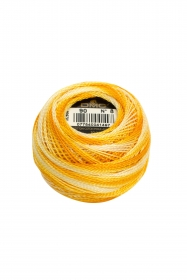 Variegated Yellow/Orange Perle 8 Embroidery Thread DMC8-90 - Pearl Cotton