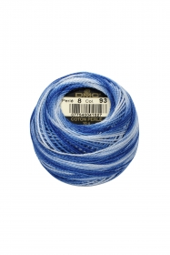 Variegated Blue Perle 8 Embroidery Thread DMC8-93 - Colour Mix Pearl Cotton