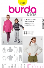 Burda Kids 9482 -  Sports Wear Pattern