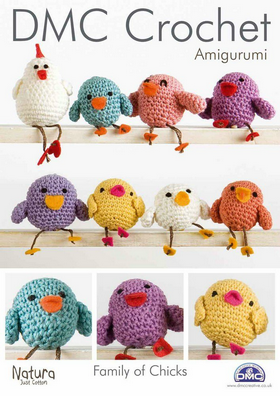 DMC Crochet Amigurumi Family of Chicks.