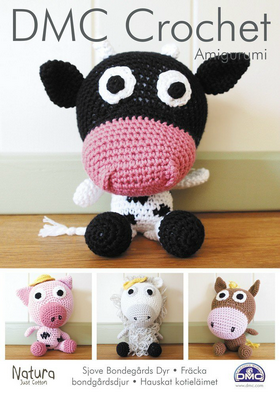 DMC Crochet Amigurumi Funky Farmyard Animals.