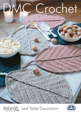 DMC Crochet Leaf Table Decoration.