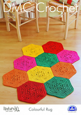 DMC 15236L/2 - Colourful Rug - Crochet Pattern