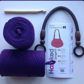 Crochet Your Own Bag - Hooked Zpagetti Rimini Purple Bag Kit