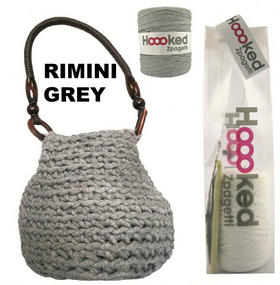 Crochet Your Own Bag - Hooked Zpagetti Rimini Grey Bag Kit