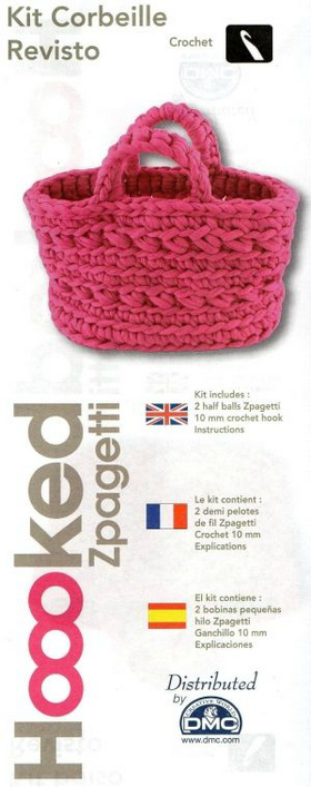 Crochet Your Own Bag - Hooked Zpagetti Rvisto Bag Pink