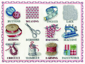 Counted Cross Stitch Sewing Sampler