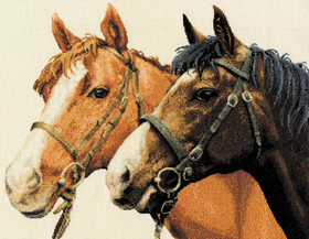 Counted Cross Stitch Horses