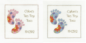 Counted Cross Stitch Ten Tiny Toes Sampler