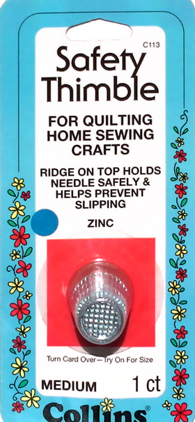 Collins Safety Thimbles - Medium  - for Home Sewing Crafts - Finger Protection - Sewing Aid