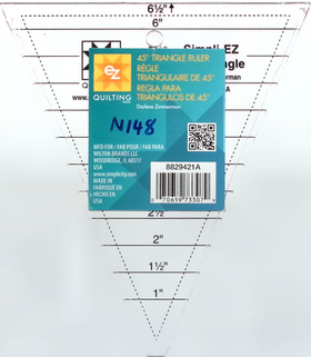 Ez Quilting 45 Degree Triangle Template Ruler for Patchwork & Quilting