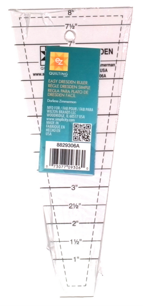 Ez Dresden Ruler Acrylic Quilting Ruler Template 1 to 8 inch