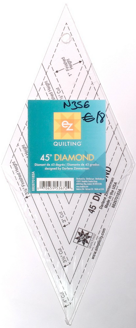 Ez Quilting 45 degree Diamond Ruler Template for Patchwork & Quilting