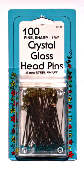 Collins Glass Head Pins