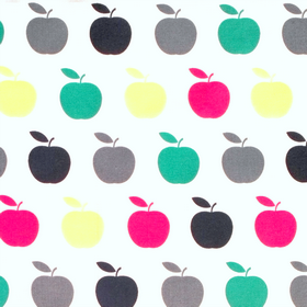 Uno  4506463 - Colourful Apples - Remnant Basket Sale - Cotton - Patchwork & Quilting Fabric