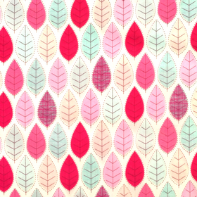 Summer Leaves Print Material - Cotton Poplin Fabric by Rose and Hubble