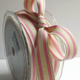Cotton With Pink Stripe. Price per yard.