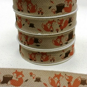 16mm Foxes Ribbon. Price per yard.