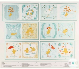 Ducky Tales Baby Book Panel - Light Jade Fabric Panel - 4140PS-11 - by Lucie Crovatto for Studio E - Patchwork & Quilting