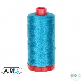 Aurifil Dark Turquoise Thread - 4182 - 12/2 - 12wt - Blue Quilting Cotton Thread