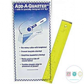 Add A Quarter Yellow Ruler - 6 inch - Perfect for Foundation Paper Piecing