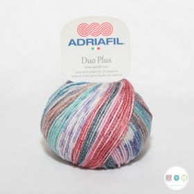 Adriafil Duo Plus Yarn - Self Patterning Wool - Twilight Fancy - Col. 46