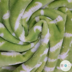 Green Alligators - Super Soft Baby - Flannel Extra Cuddle Soft Minky Style Plush - Fleece Fabric