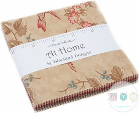 At Home Moda Charm Pack by Blackbird Designs - 5 Inch Precut Squares
