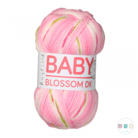 Baby Blossom DK Yarn by Hayfield - Baby Bouquet 350 - Pink Baby Wool