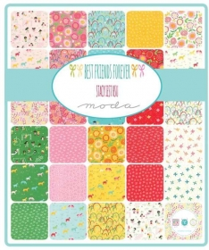 Best Friends Forever Layer Cake - BFF - by Stacy Iest Hsu for Moda Fabrics - Patchwork & Quilting