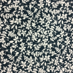 Navy Floral Backing Fabric