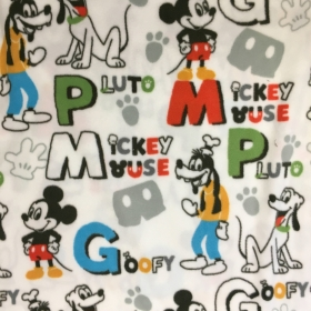Mickey Mouse - Childrens Soft Fleece Fabric by Camelot Fabrics