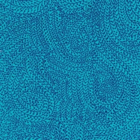 Turquoise Vine Maze Backing Fabric by Michael Miller