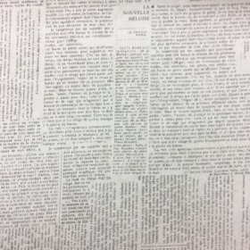 Newspaper Print - Text - French Words - Script - 108