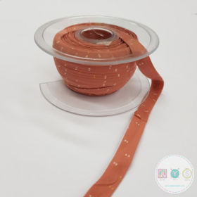 Sparkle Melba Gold Bias Tape - Biais by Atelier Brunette - Coral - Pale Pink Bias Dressmaking