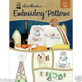 Aunt Martha's Embroidery Patterns Farm Living #404