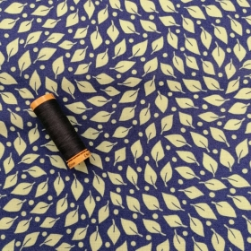 Leaves on Blue Fabric -  Beach Road by Moda