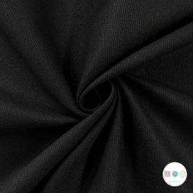 Black Cotton Twill - Stretch - Chinos Fabric - Dressmaking