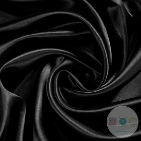 Anti Static Polyester Dress Lining Fabric in Black - Dressmaking Lining
