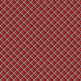 Christmas Fabric - Black and Red Tartan - Santas Helpers by Northcott